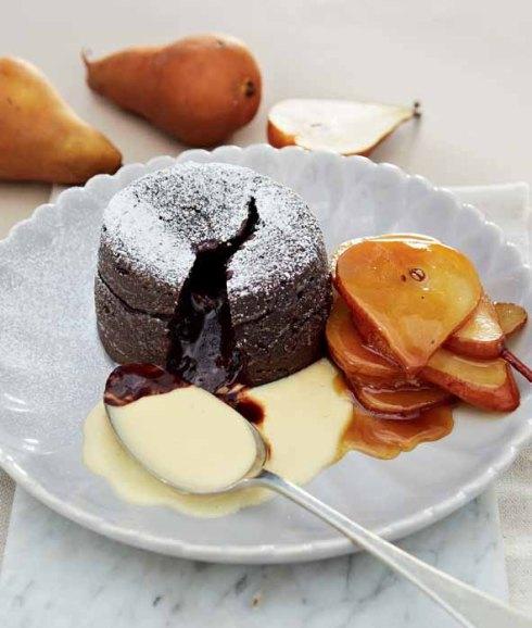 Deena sjokolade fondant pere en Amarula R