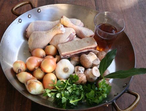 Die hoofbestandele wat in hierdie landelike gereg kom - vervang die pancetta met ontbytspek en gebruik goeie asyn.