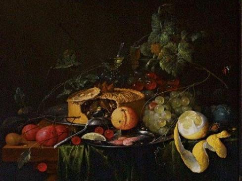 Stillewe van Jan Davidsz de Heem uit 1651 toon die plek van pasteie.
