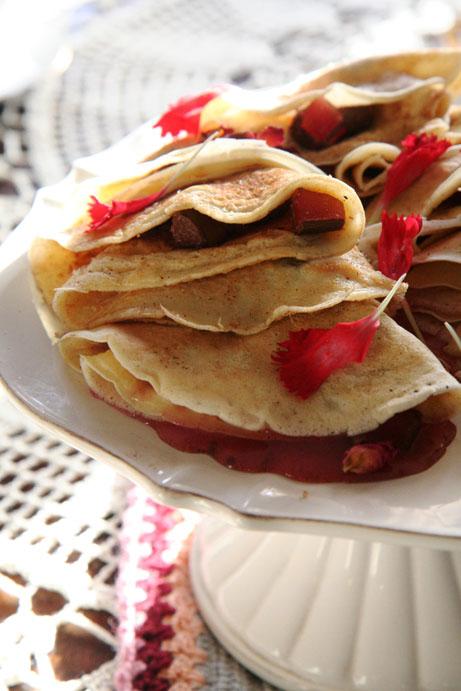 Turkse lekker pannekoek met angelierblaartjies opgedra aan ons pa's