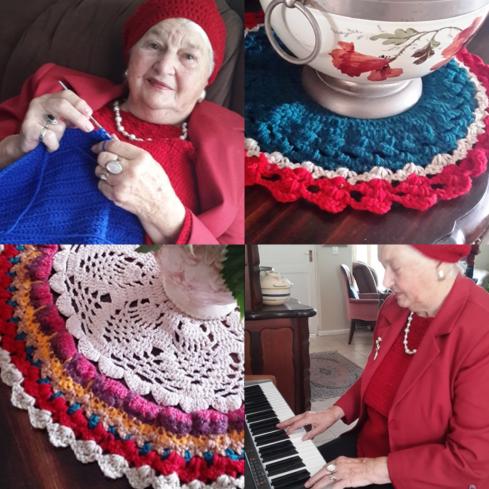 Ma Inez, haar hekelwek en haar musiek.