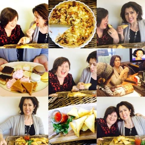 Christine saam met my in die RSG ateljee met 'n bordjie soet en bordjie sout: heerlike gerookte snoektert en samosas ; asook fudge, skuimpies, macarons, miljoenerbrosbrood en malvalekkers in geroosterde klapper.